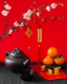 아름 다운 중국 새 해 개념
