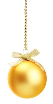 分離された美しいクリスマスボール