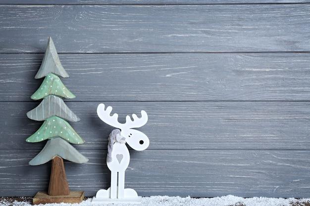 木製の背景に美しいクリスマスの構成