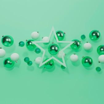 Beautiful christmas concept with christmas balls