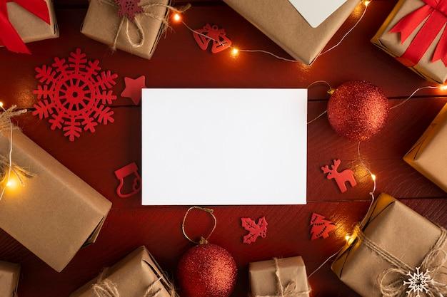 Красивая рождественская концепция с копией пространства