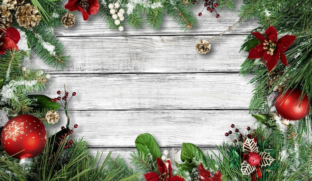 Красивые рождественские украшения на фоне