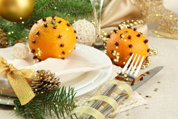 Красивые рождественские настройки крупным планом