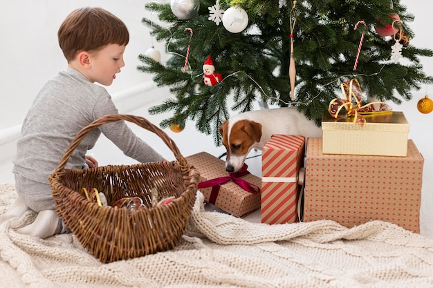 Beautiful christmas time at home concept