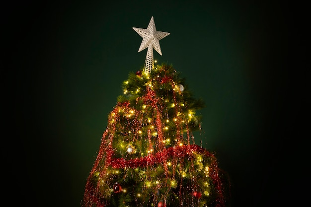 Beautiful christmas tree with copy space