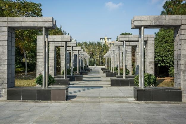 Красивый городской парк в цзясине