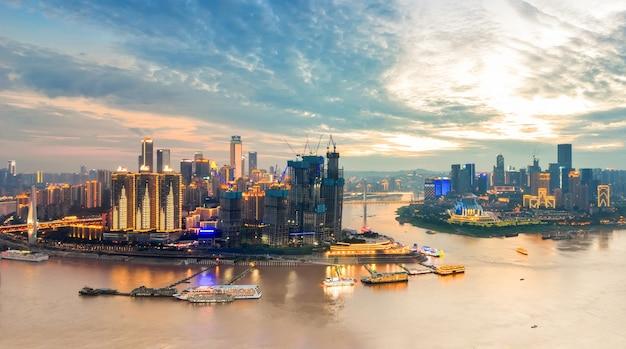 Красивый городской пейзаж, в чунцине, китай