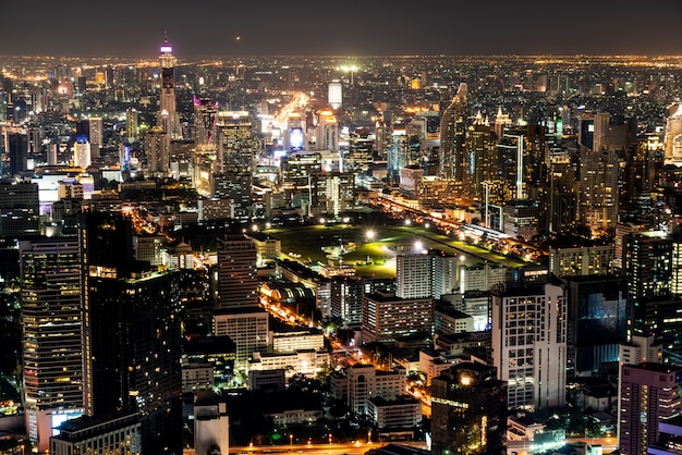 Beautiful city with architecture and building in bangkok cityscape thailand