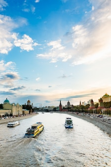 Beautiful cityscape near kremlin