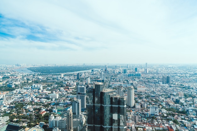 Beautiful cityscape with architecture and building in bangkok thailand