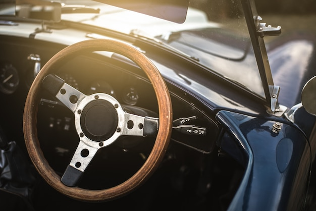 Beautiful classic vintage sport car