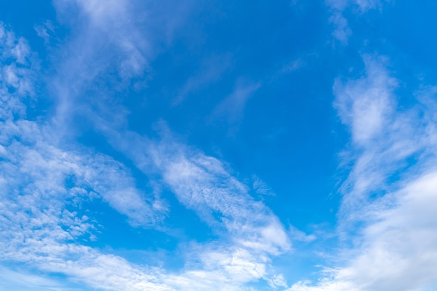 Beautiful cloud and blue sky , white fluffy nature background texture