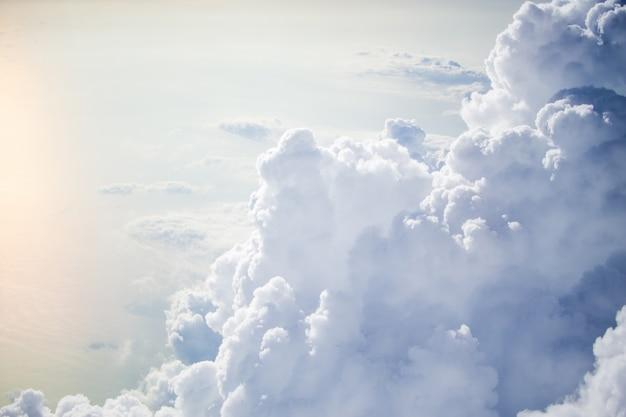 Beautiful of cloud on sky take photo on plane.