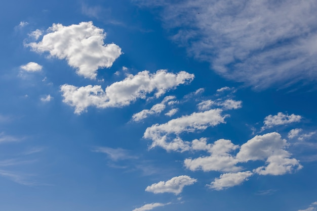 Beautiful clouds and blur sky background
