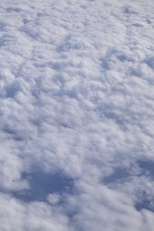 Beautiful above clouds from an airplane