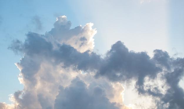 Beautiful clouds in a sunny sky