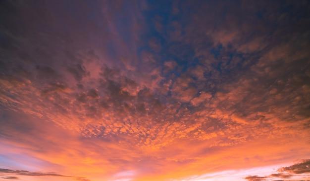 Beautiful cloudscape. dramatic sunset sky