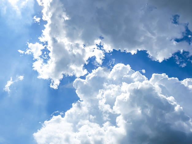 Beautiful cloudy on blue sky