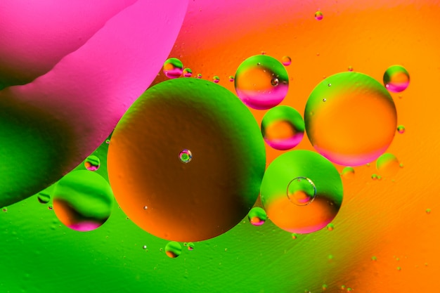 Beautiful color abstract background from mixied water and oil.