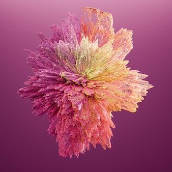 Beautiful color smoke. 3d illustration, 3d rendering.