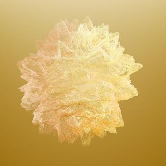 Красивый цветной дым. 3d иллюстрации, 3d рендеринг.