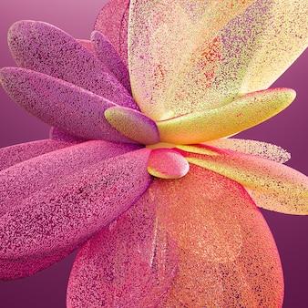 Красивый цветной дым 3d иллюстрация
