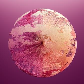 아름 다운 색 연기 3d 그림