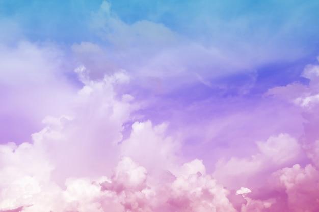 美しい色の夕方の空