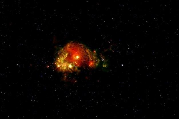 Красиво окрашенная галактика. голубое пространство со звездами. элементы этого изображения были предоставлены наса. фото высокого качества