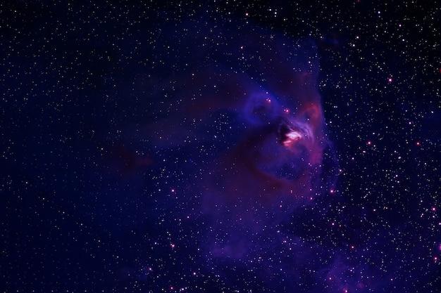 Красивая цветная галактика голубое пространство со звездами элементы этого изображения предоставлены наса.
