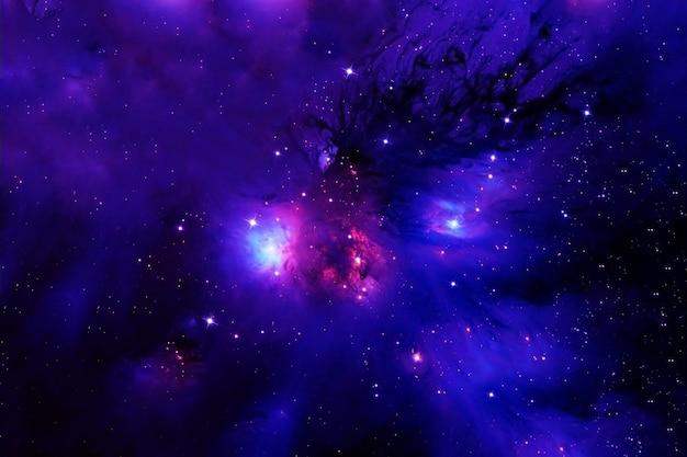 暗い背景の美しい色の銀河この画像の要素はnasaによって提供されました