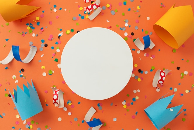 생일을 축하하는 아름다운 화려한 배경