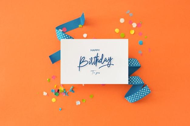 Красивый красочный фон для поздравления с днем рождения