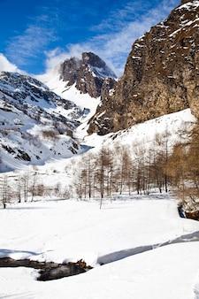 Beautiful colors on alps close to switzerland/italian borders