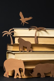 Beautiful composition of different books