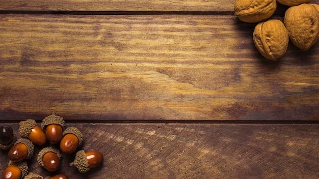 갈색가 견과류의 아름 다운 구성