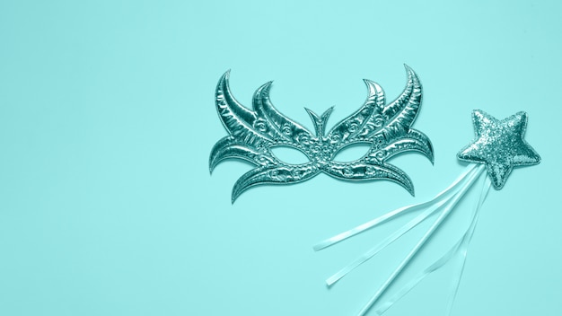 Beautiful concept of carnival mask top view