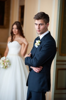 Beautiful couple wedding day