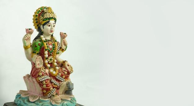ヒンドゥー教のゴディーの美しいかわいい像マハラクシュミ像