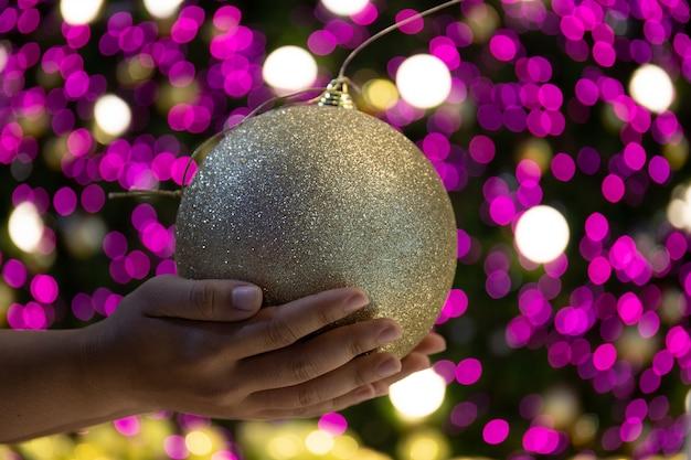 Beautiful decorated christmas tree. holiday background