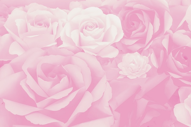 Beautiful decoration artificial paper rose flower background for valentine day or wedding card.