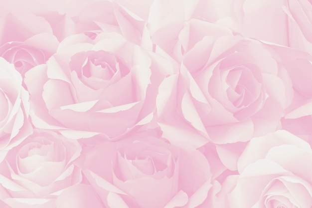 Beautiful decoration artificial paper rose flower background