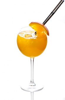 Beautiful and delicious cocktail in a glass