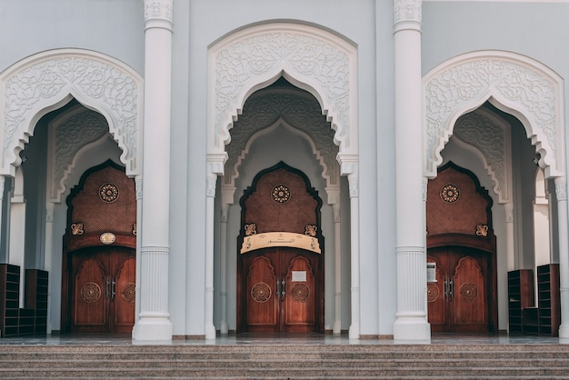 Beautiful design of the main entrance of a mosque building