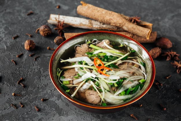 Beautiful dish of vietnamese cuisine