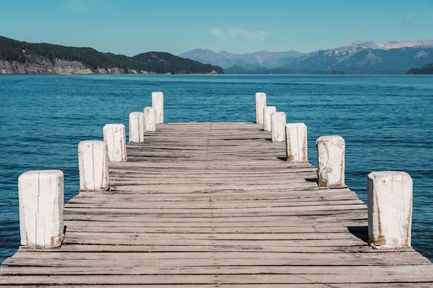 A beautiful dock on a lake