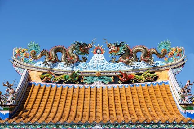 Beautiful dragon statue in the temple