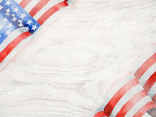 Beautiful drawing of the american flag
