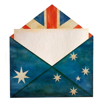 Beautiful drawing of the australian flag. closeup, no people, textured surface.