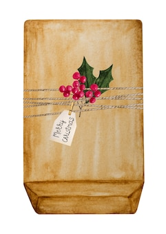 Beautiful drawing of boxes with gifts for the holiday